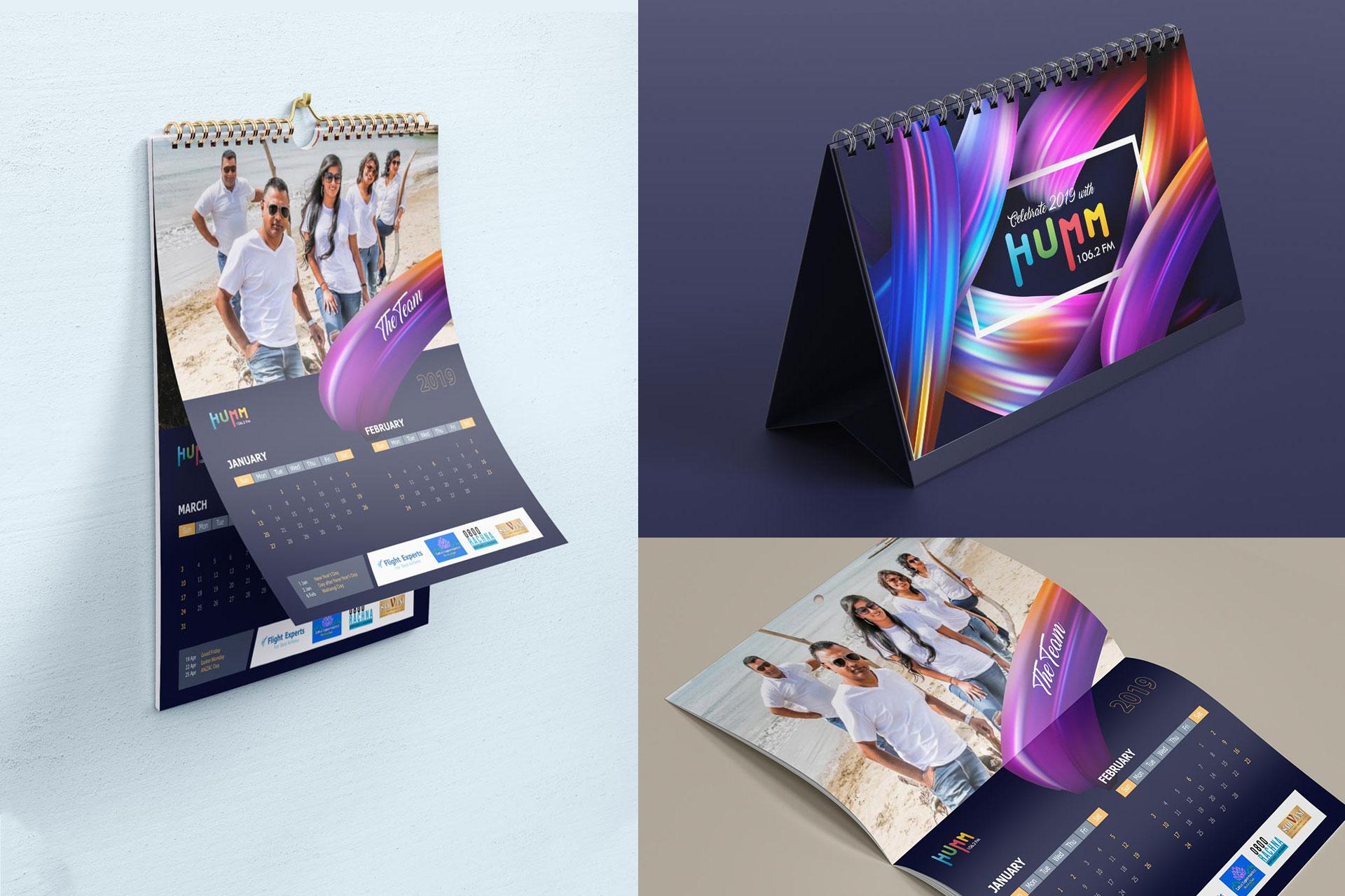 Humm Fm calendar design
