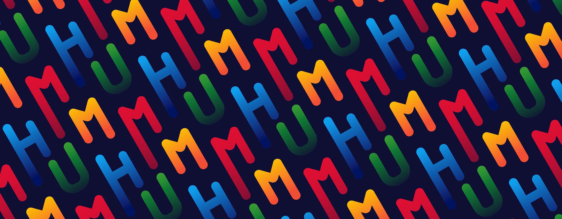 humm fm branding pattern design
