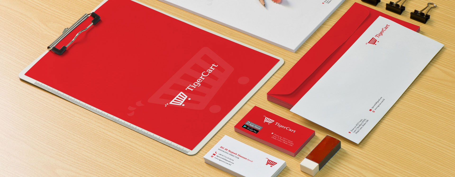 Stationery Design for TigerCart, an ecommerce shopping website