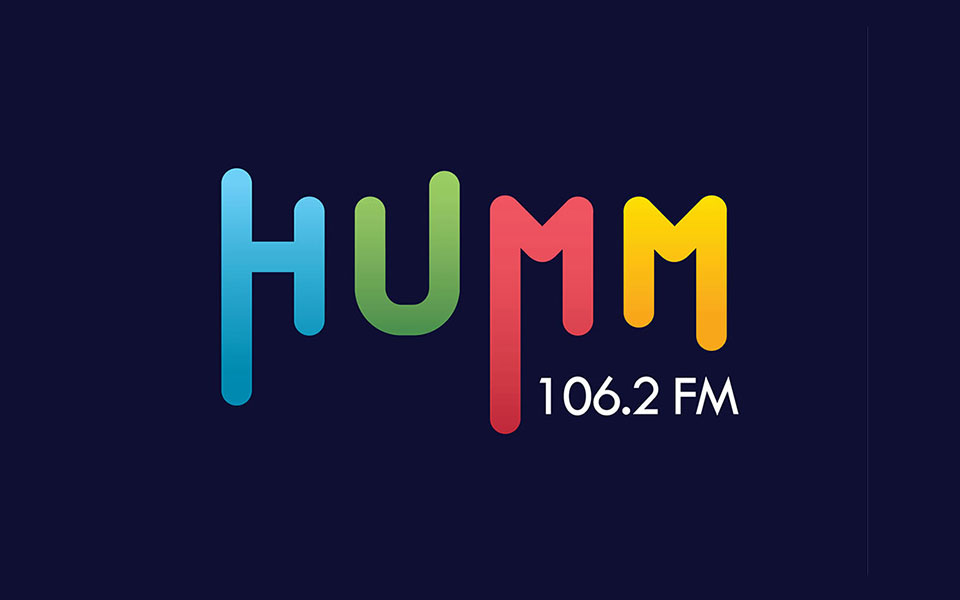 humm fm 106.2 fm - Logo design