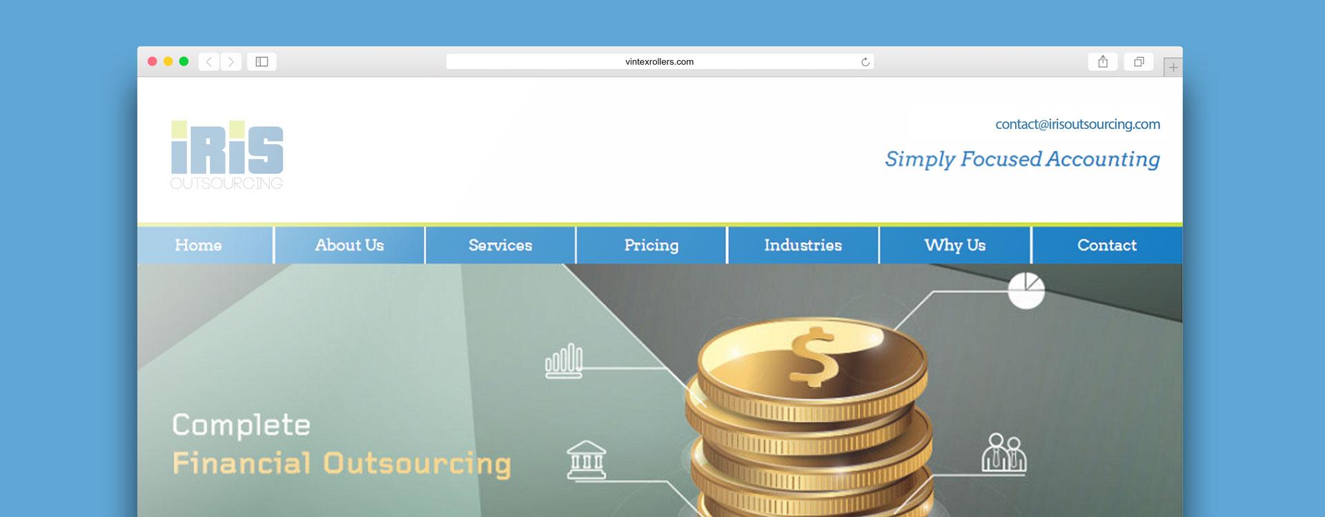 Web design for IRIS Outsourcing