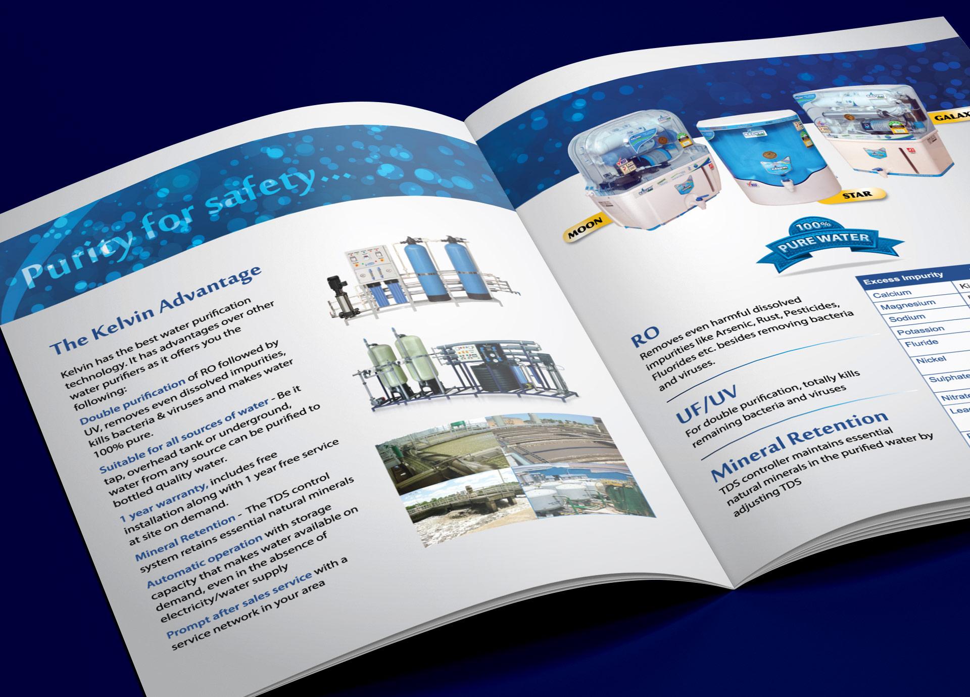 brochure design for kelvin plus - water treatment company