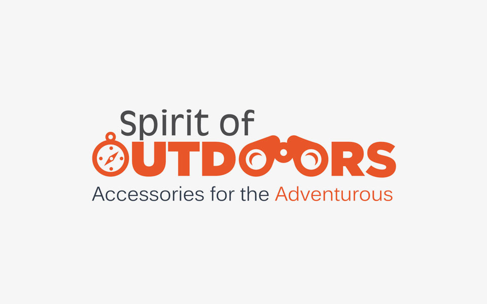 logo - spirit of outdoors, travel accessories brand