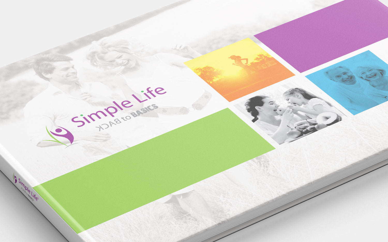 brochure design simple life
