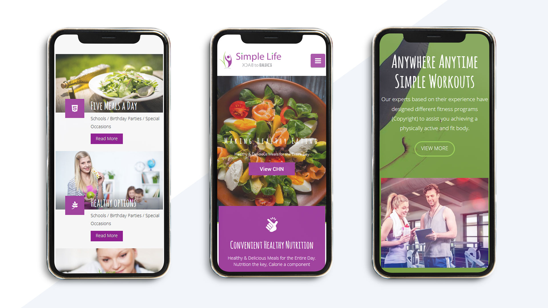 responsive web design for simple life