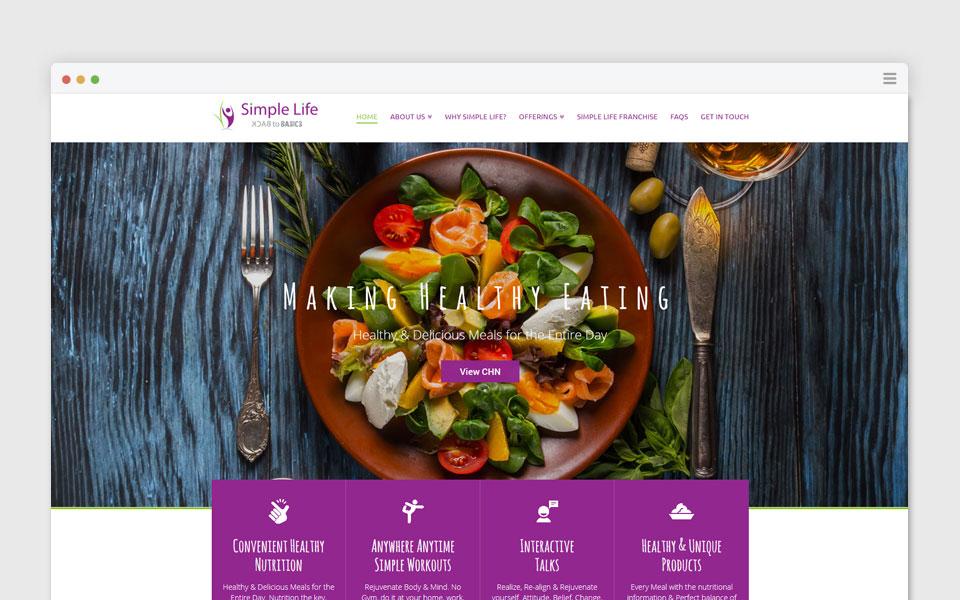simple life web design