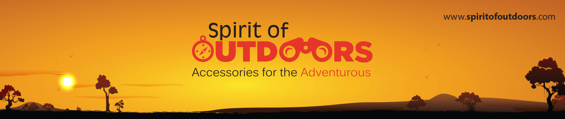 outdoor banner design for spirit of outdoors